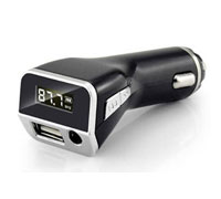 iPDA FM21 Black USB Car Charger 2.1A & LCD FM Stereo Transmitter + USB + AUX In (2 σε 1: φορτιστής αυτοκινήτου & FM Transmitter)