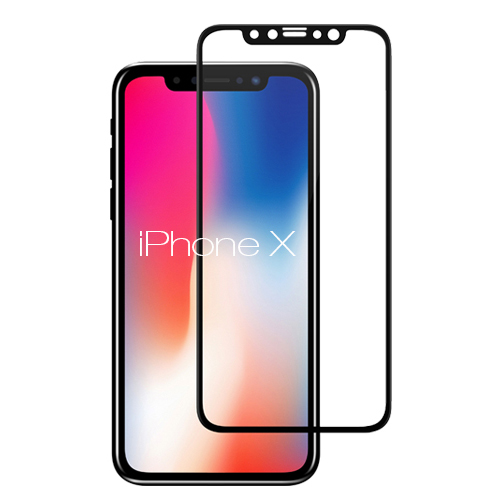 "Soultronic Full Face & Curved Tempered Glass Protector για Apple iPhone X (5.8"") Black"