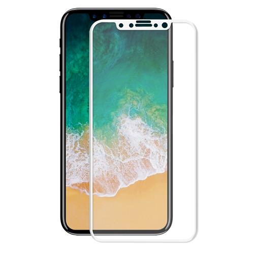 Soultronic Full Face & Curved Tempered Glass Protector για Apple iPhone X / iPhone XS White