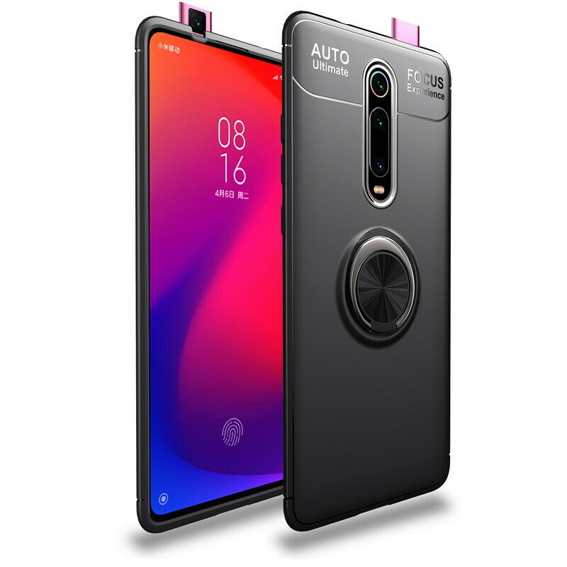 Soultronic Premium Silicone Cover Case (TPU) With Ring Button για Xiaomi Mi 9T, Mi 9T Pro, K20 & K20 Pro Black