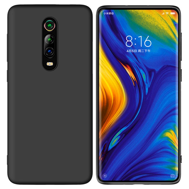 Soultronic Premium Liquid Silicone Cover Case για Xiaomi Mi 9T, Mi 9T Pro, K20 & K20 Pro Black