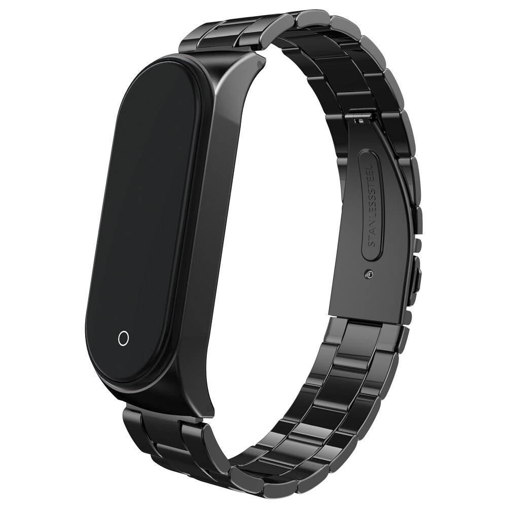 Soultronic Steel Band (Μπρασελέ λουράκι) για Xiaomi Mi Band 3 & Mi Band 4 Black