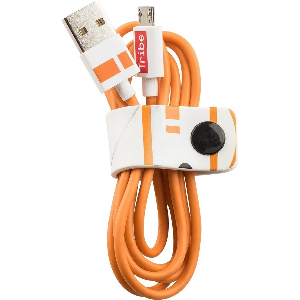 Tribe Star Wars BB-8 microUSB Cable | 1.2m | Charge | Sync | Data | Cable Holder