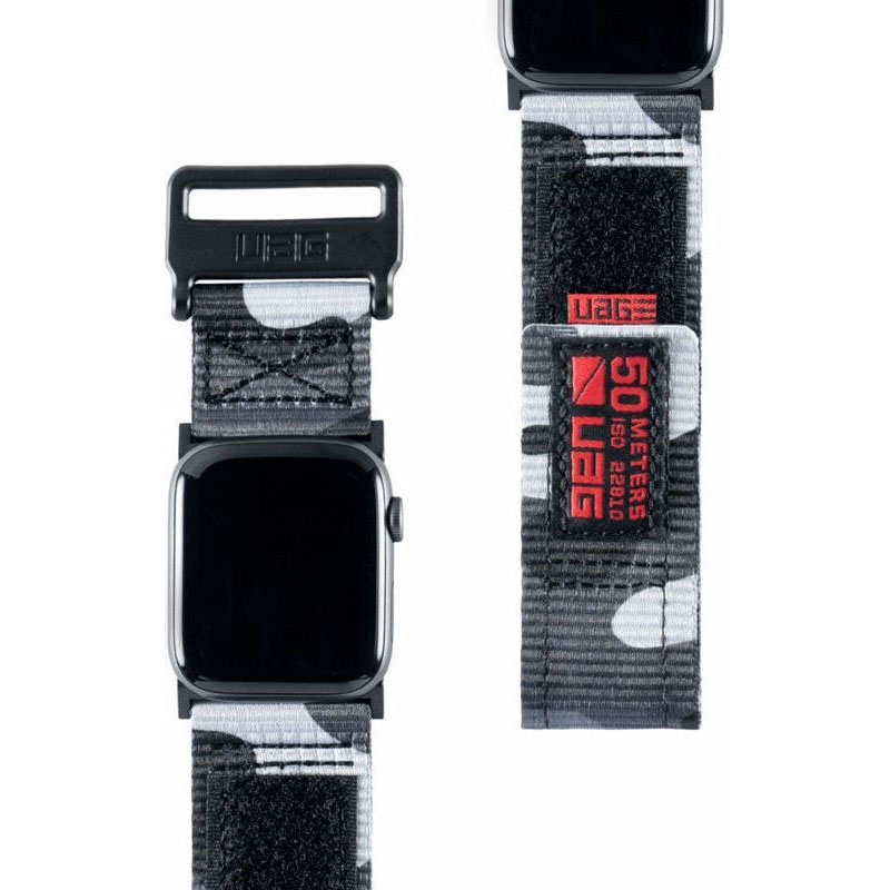 UAG Active Strap (Νάιλον λουράκι) για Apple Watch Series 1, 2 & 3 (42mm) & 4, 5 (44mm) Midnight