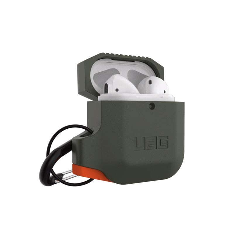 UAG Original Silicone Cover WeatherProof Case για Apple Airpods 1, 2 Olive Drab / Orange