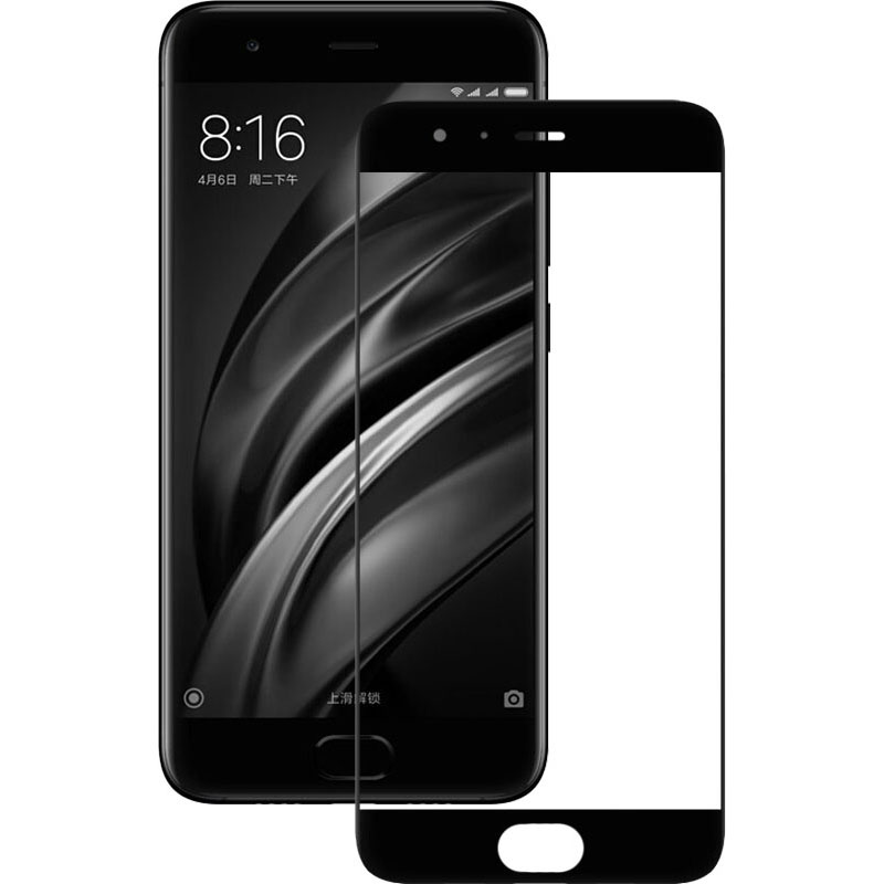 Ultimate Shield Premium Full Face & Curved Tempered Glass Protector για Xiaomi Mi 6 Black