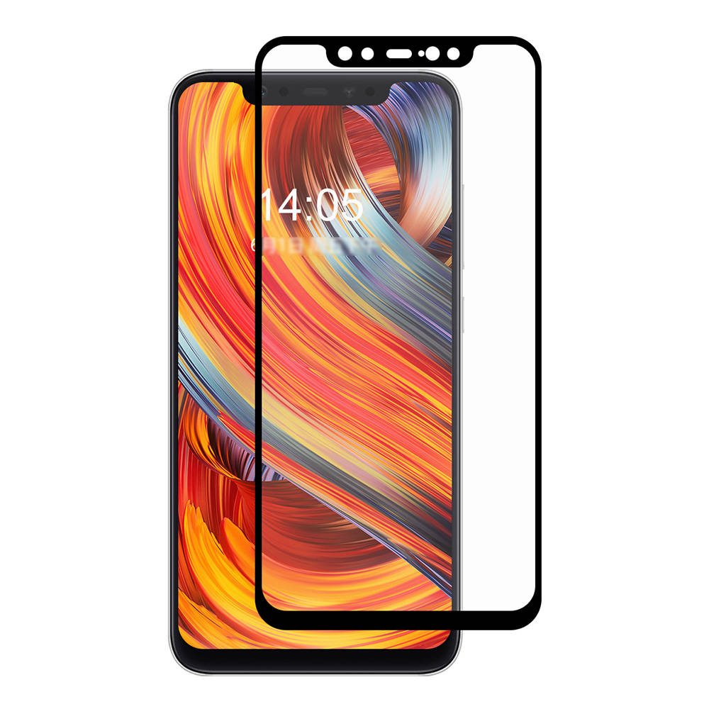 Ultimate Shield Premium Full Face & Curved Tempered Glass Protector για Xiaomi Mi 8 Black