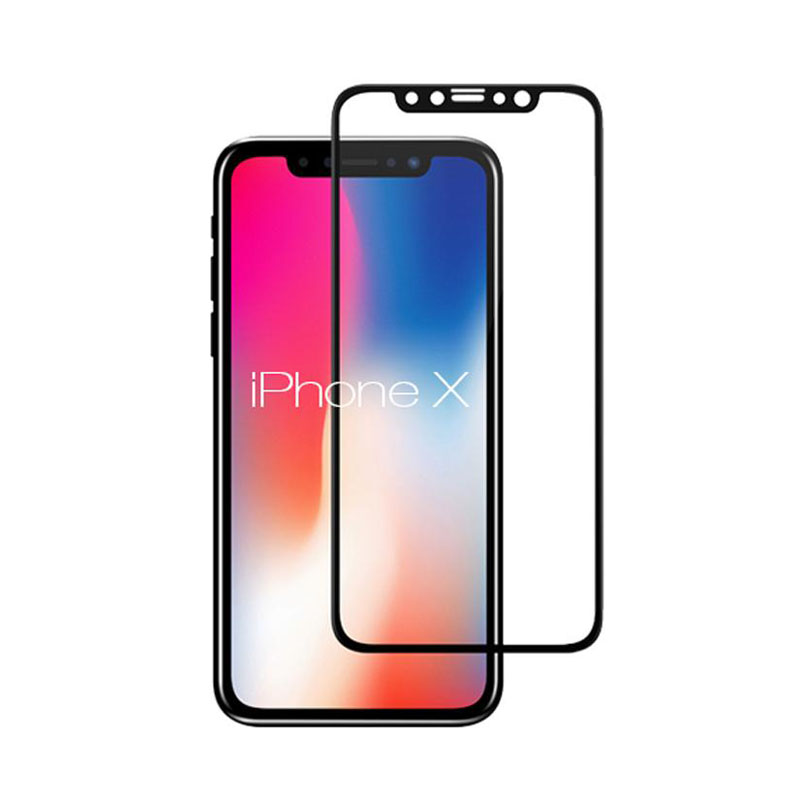 "Ultimate Shield Premium Full Face & Curved Tempered Glass Protector για Apple iPhone X (5.8"") Black"