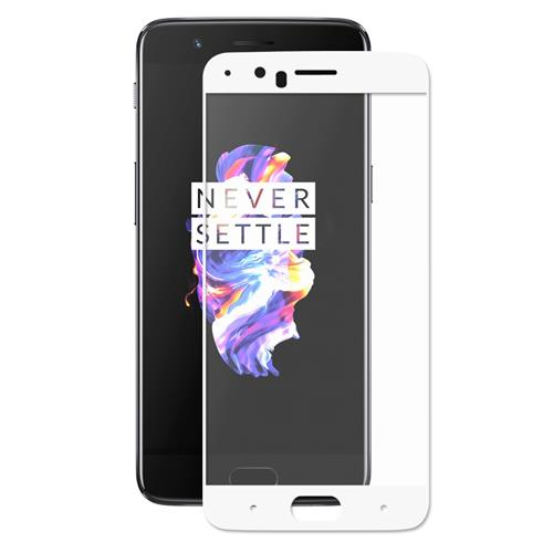 Ultimate Shield Premium Full Face & Curved Tempered Glass Protector για Oneplus 5 White