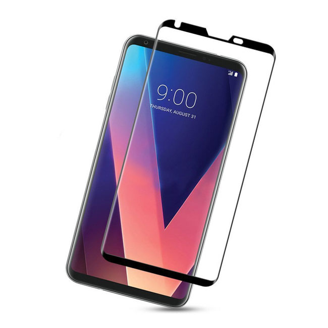 Ultimate Shield Premium Full Face & Curved Tempered Glass Protector για LG V30 Black