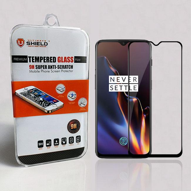 Ultimate Shield Premium Full Face & Curved Tempered Glass Protector για Oneplus 6T Black