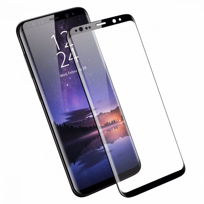 Ultimate Shield Premium Full Face Curved Tempered Glass Protector για Samsung SM-G960F Galaxy S9 Black