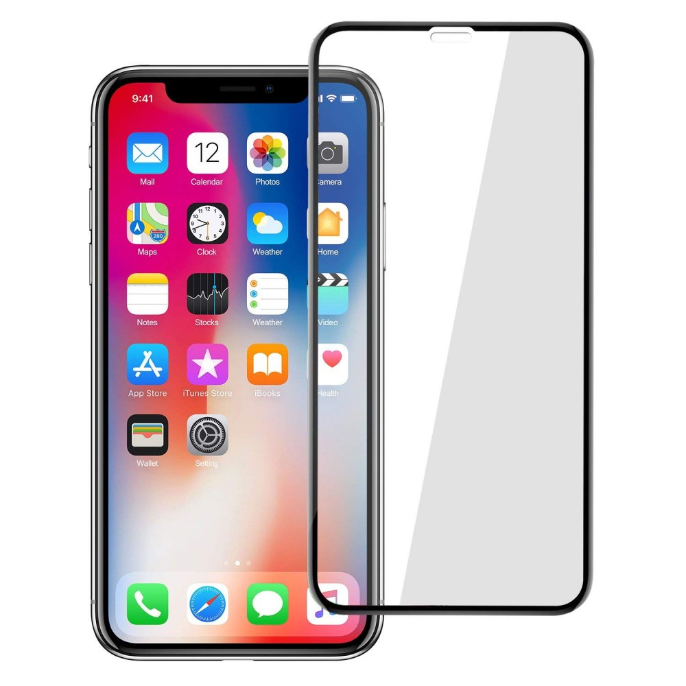 Ultimate Shield Premium Full Face & Curved Tempered Glass Protector για Apple iPhone XR - 11 Black