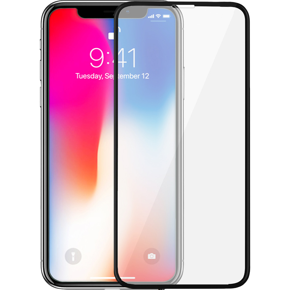 Ultimate Shield Premium Full Face & Curved Tempered Glass Protector για Apple iPhone X / iPhone XS Black