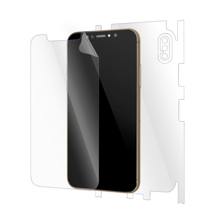 "Ultimate Shield Full Body (Maximum) Invisible Film Screen Protector για Apple iPhone X (5.8"") + Οδηγίες εγκατάστασης"