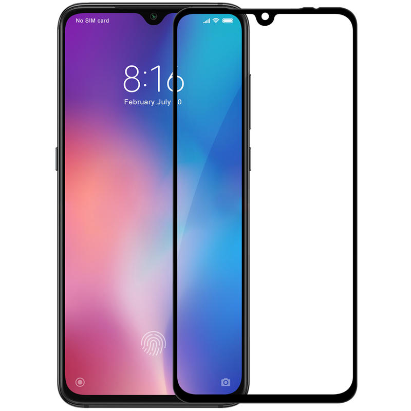 Ultimate Shield Premium Full Face & Curved Tempered Glass Protector για Xiaomi Mi 9 / Mi 9 Explorer Black