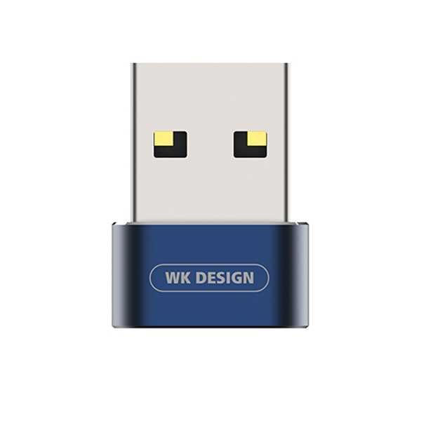 WK Design WDC-053 Blue USB to USB Type-C Female Adapter (συμβατός για συγχρονισμό & φόρτιση)