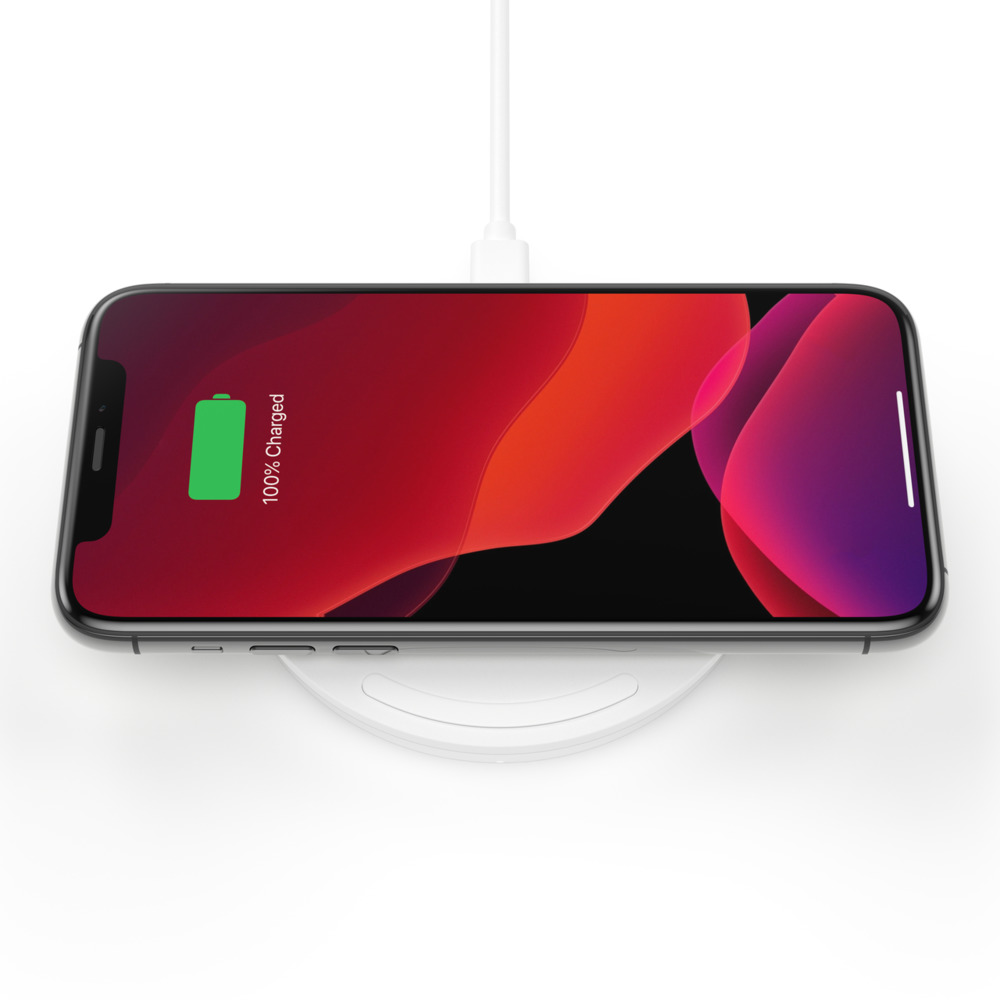 Belkin Boost Charge 10W Wireless Charging Pad + QC 3.0 Wall Charger + Cable (WIA001ttWH)