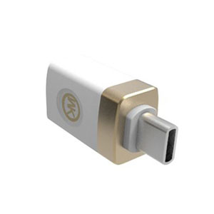 WK Design Type-C On-The-Go USB 2.0 Host OTG Adapter White