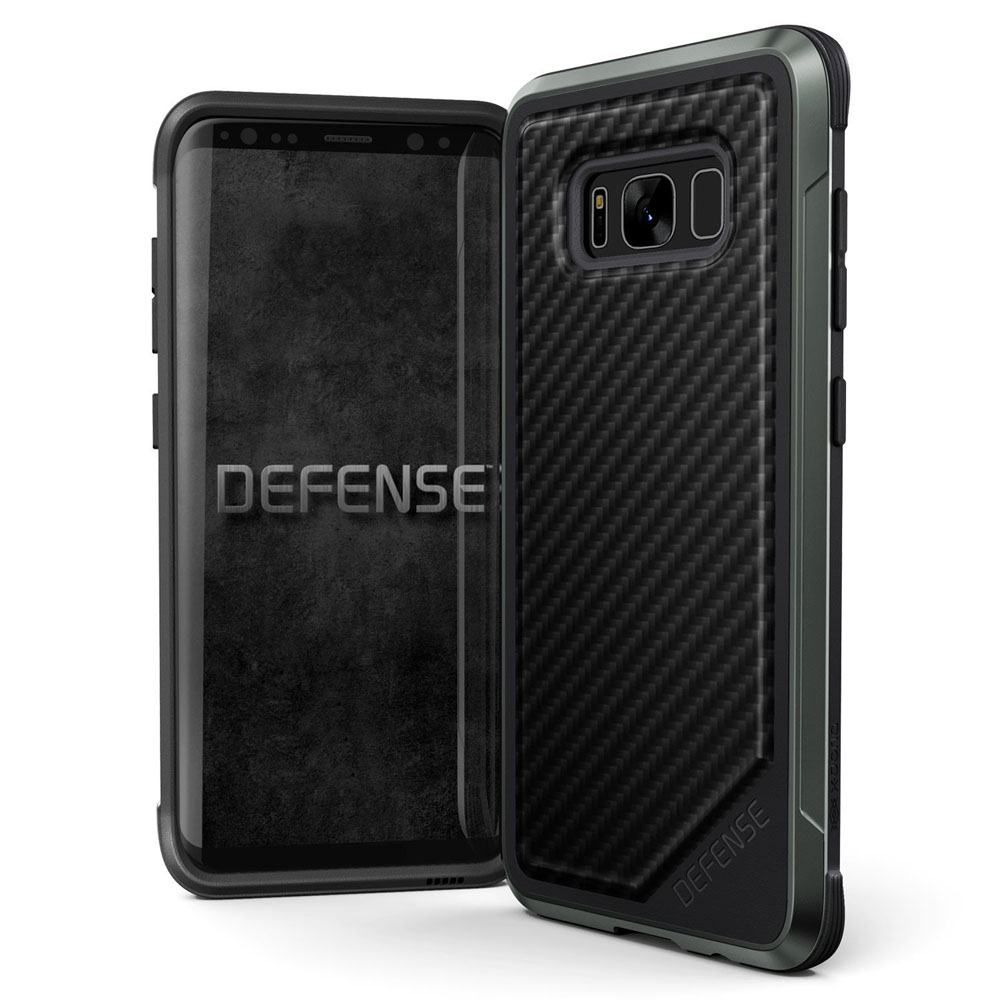 X-Doria Defense Lux Series Protective Case για Samsung SM-G955 Galaxy S8+ Plus Black Carbon (Με προδιαγραφές τύπου MIL-STD 810G)