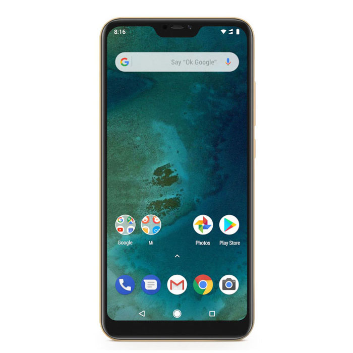 Xiaomi Mi A2 Lite, Dual Sim, 32GB & 3GB RAM, 4G Android Smartphone Gold (Global Version)