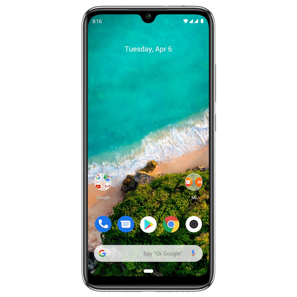 Xiaomi Mi A3, Dual Sim, 64GB & 4GB RAM, 4G Android Smartphone White (Global Version)