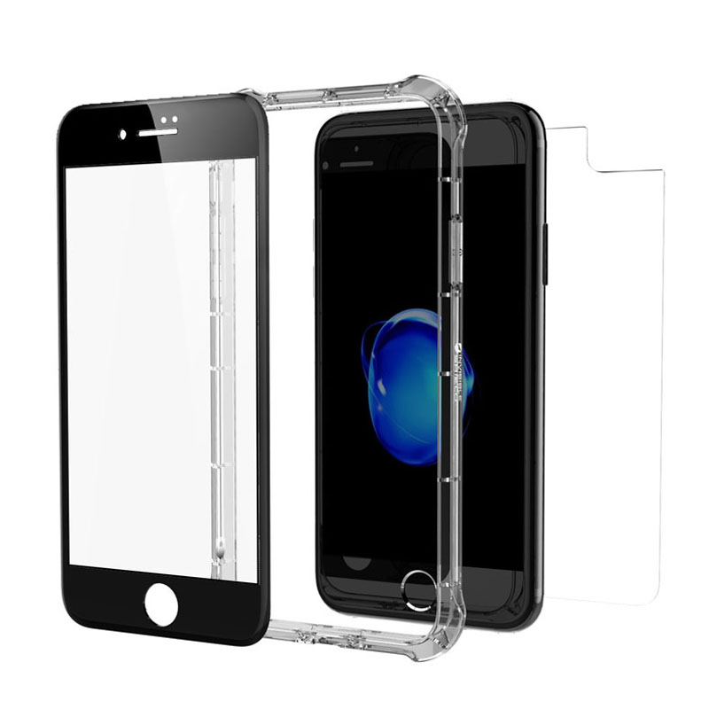 "ZAGG invisibleSHIELD Glass+ Contour 360 (Contour Black Glass Front + Bumper Case) για Apple iPhone 7 & 8 (4.7"")"