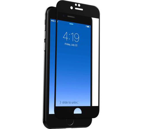 "ZAGG Contour invisibleSHIELD Full Face Screen Glass Edge to Edge Protectior Black για Apple iPhone 7 & 8 (4.7"")"