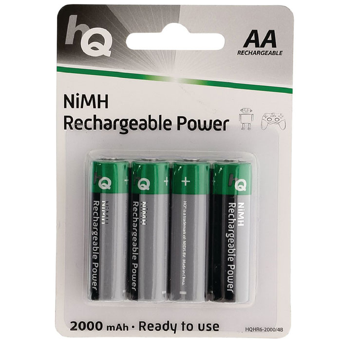 HQHR6-2000/4ΤΕΜ 2000 mAh, Rechargeable  NiMH AA battery 4-blister (Επαναφορτιζόμενες μπαταρίες ΑΑ Νi-MH 200...)