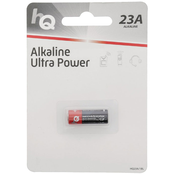 HQ23A/1BL  Alkaline 23 A battery 1-blister (Αλκαλική μπαταρία LR23 A, 12V  σε bliste...)
