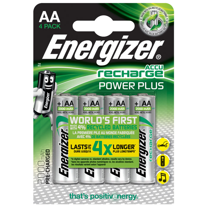 ENERGIZER AA-HR6/2000mAh/4TEM POWER PLUS RECHARGEABLE    F016480 (Επαναφορτιζόμενη μπαταρία Εnergizer ΑΑ-H...)