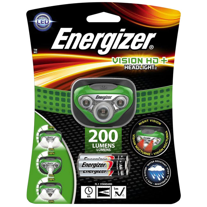 ENERGIZER VISION HD+ HEADLIGHT 5LED & 3xAAA   F016320 (Φακός κεφαλής Energizer Vision HD+ 3AAA ...)