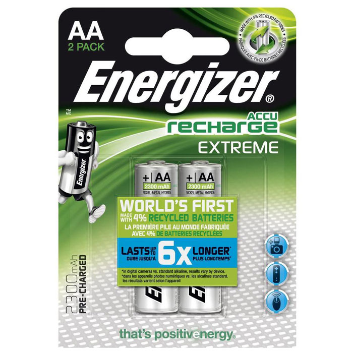 ENERGIZER AA-HR6/2300mAh/2TEM EXTREME RECHARGEABLE     F016503 (Επαναφορτιζόμενη μπαταρία Εnergizer AA-H...)