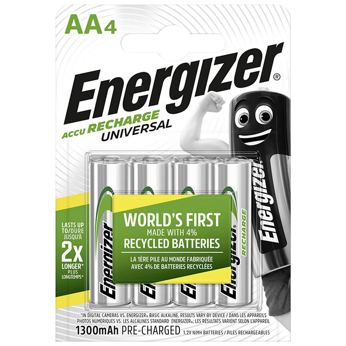 ENERGIZER AA-HR6/1300mAh/4TEM UNIVERSAL RECHARGEABLE F016556 (Επαναφορτιζόμενη μπαταρία Εnergizer ΑΑ-H...)