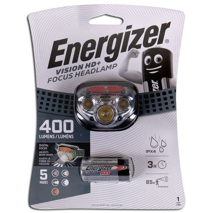 ENERGIZER VISION HD & FOCUS LEADLIGHT 400lm (Φακός κεφαλής Energizer Vision HD+ Focus...)
