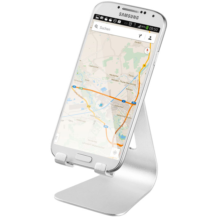 43804 DESKTOP STAND (ALUMINIUM) SILVER FOR SMARTPHONES AND TABLET PCs (Βάση στήριξης αλουμινίου για Smartphones...)