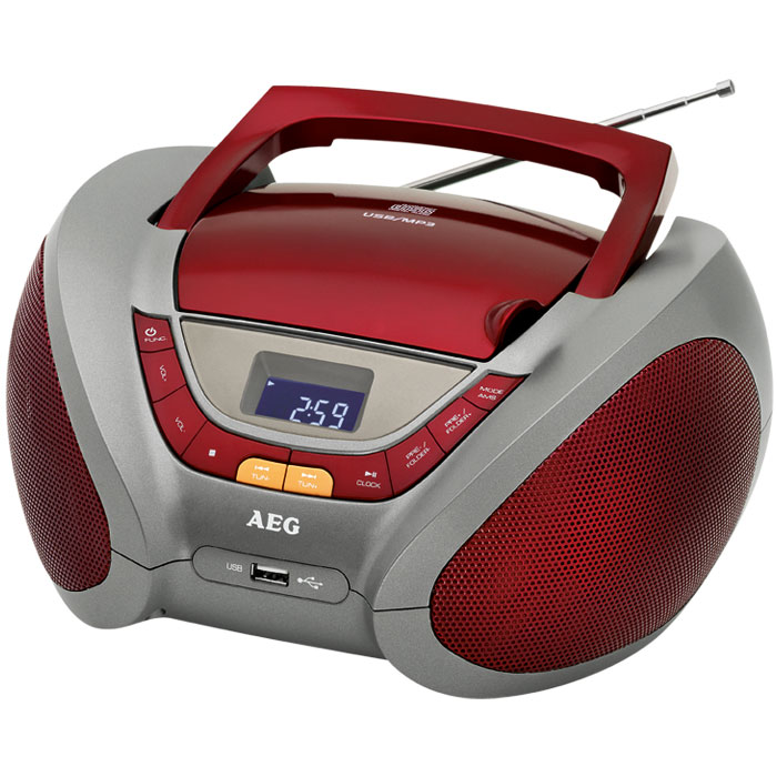 SR 4358 RED STEREO RADIO WITH CD/MP3  005963 (Φορητό ραδιόφωνο με CD/ MP3 player)