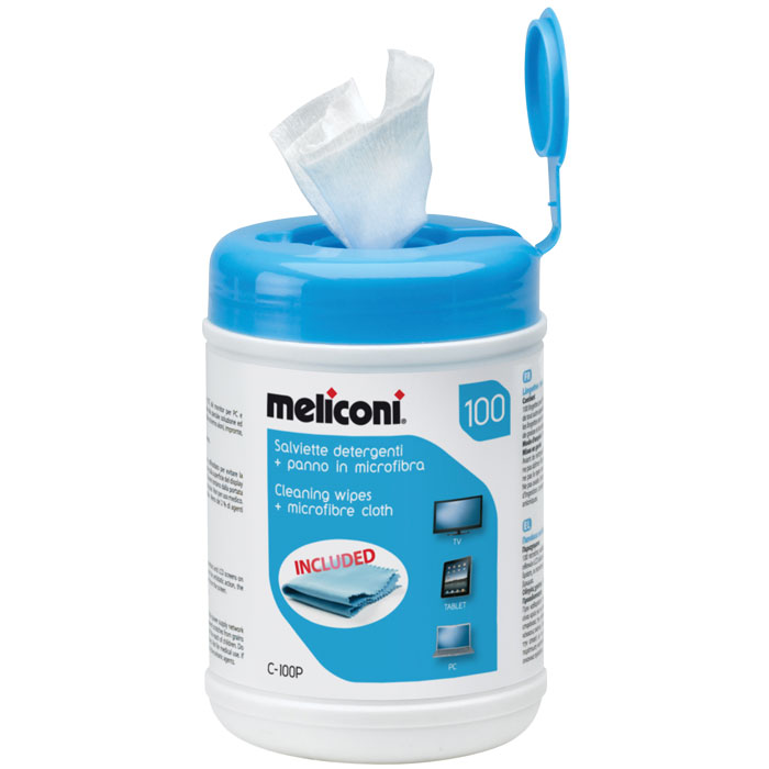 MELICONI 621005 C-100P CLEANING WIPES (Μαντηλάκια καθαρισμού ιδανικά για τηλεορ...)