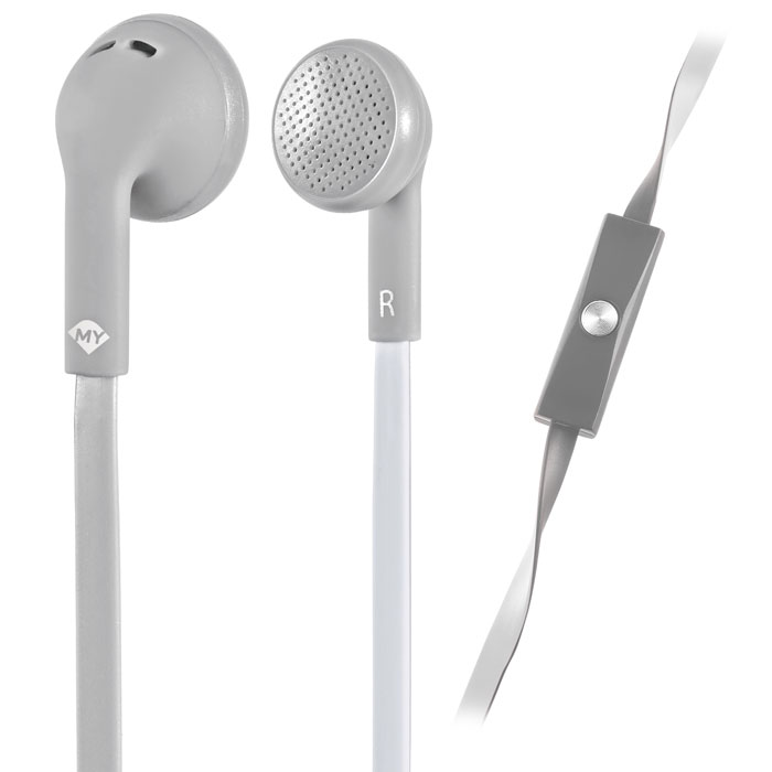 MELICONI MYSOUND SPEAK FLAT BICOLOR GREY/WHITE IN-EAR STEREO HEADSET (WITH MICRO (Στερεοφωνικά ακουστικά με μικρόφωνο (ψεί...)