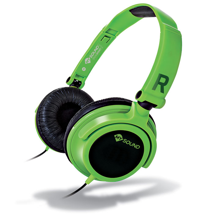 MELICONI MYSOUND SPEAK SMART FLUO GREEN-BLACK ON-EAR STEREO HEADSET (WITH MICROP (Στερεοφωνικά ακουστικά με μικρόφωνο, με ...)