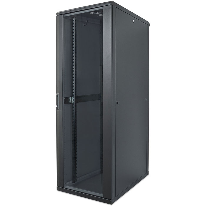 "INT 713085 ASSEMBLED 19"" 22U (1120x600x800) NETWORK RACK BLACK (Καμπίνα δικτύου 19"", 22U (600x800mm), IP...)"