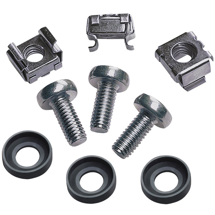 INT 711081 CAGE NUT SET, 50xM6 CAGE NUTS, 50xM6 SCREWS, 50xPLASTIC WASHERS (Σετ 50 τεμαχίων παξιμάδια ασφαλείας, βίδ...)