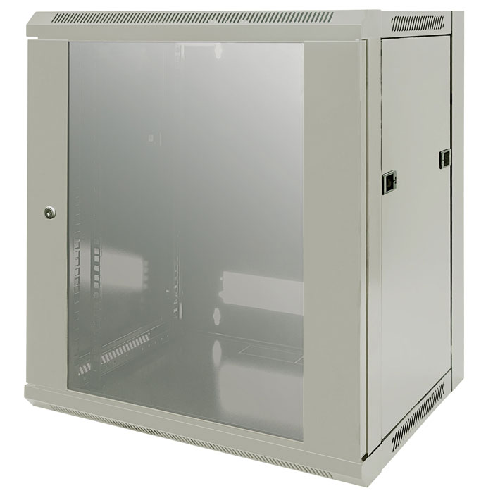 "INT 711876 ASSEMBLED 19"" 12U (635x570x450) WALLMOUNT CABINET GREY (Επιτοίχια καμπίνα 19"", 12U (570x450mm), ...)"