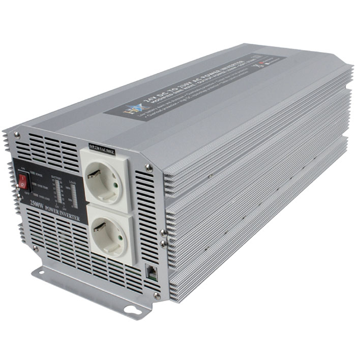 HQ-INVERTER 2500W/24V TO 230V (Inverter 2500W 24VDC σε 230VAC)