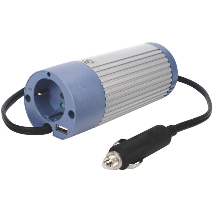 HQ-INV100U-24 INVERTER+USB 100W 24VDC->230VAC (Inverter ημιτονικού παλμού 100W 24V DC σ...)