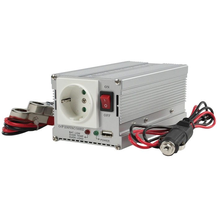 HQ-INVERTER 300WU-12V INV. 12>230V+USB (Inverter 12V )