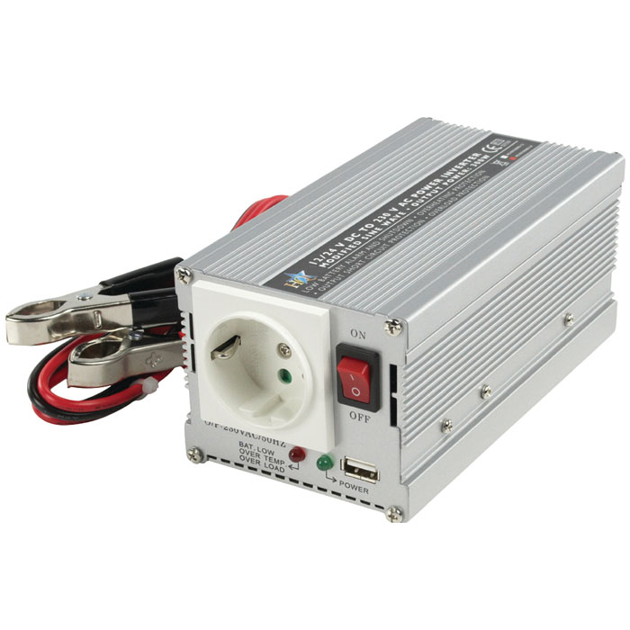 HQ-INVERTER 300WU-24V INV. 24>230V+USB (Inverter 24V )