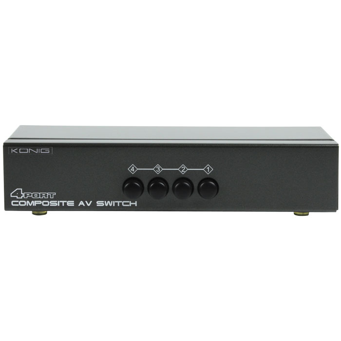 KN-AVSWITCH 10 COMPOSITE AUDIO/VIDEO SWITCH (RCA AUDIO/VIDEO SWITCH 4 σε 1 )