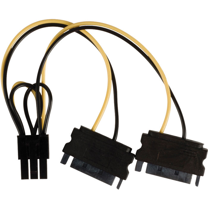 VLCP 74205V 0.15 power splitter cable PCI Express female (Καλώδιο-splitter τροφοδοσίας PCI Express...)