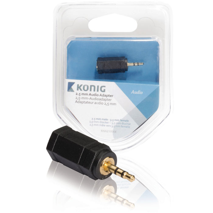 KNA 21930E 2.5 mm audio adapter 2.5 mm male - 3.5 mm female (Αντάπτορας ήχου, 25mm αρσ)